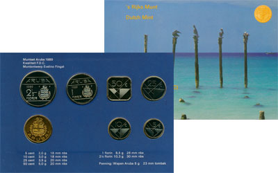 Изображение Подарочные монеты Аруба Выпуск 1989 года 1989  UNC Представляем Вашему