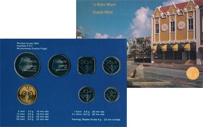 Изображение Подарочные монеты Аруба Выпуск 1990 года 1990  UNC Представляем Вашему