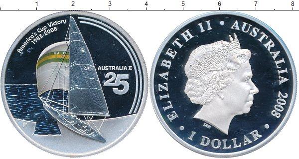 Картинка Подарочные наборы Австралия 25-ая победа Австралии в большой американской регате Серебро 2008