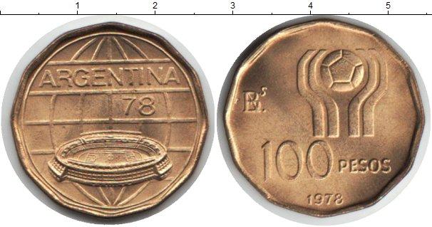 Картинка Монеты Аргентина 100 песо  1978