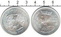 Изображение Монеты Испания 12 евро 2004 Серебро UNC-