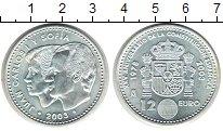 Изображение Монеты Испания 12 евро 2003 Серебро UNC- Конституция