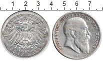 Изображение Монеты Баден 5 марок 1904 Серебро XF Фридрих