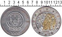 Изображение Монеты Руанда 1.000 франков 2009 Серебро Proof- Водолей