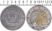 Изображение Монеты Руанда 1000 франков 2009 Серебро Proof-