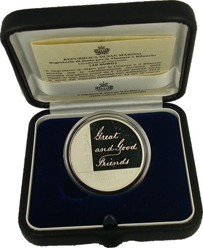 Изображение Подарочные монеты Сан-Марино Авраам Линколь 2015 Серебро Proof