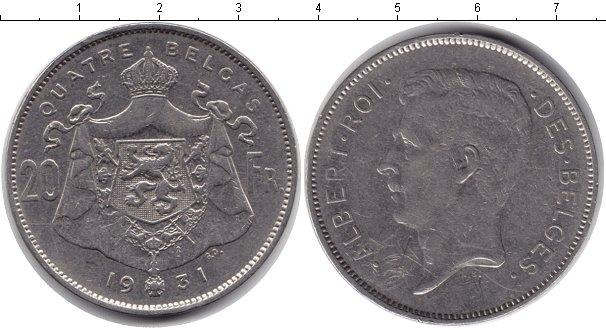 Картинка Монеты Бельгия 20 франков Медно-никель 1931