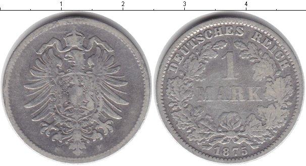 Картинка Монеты Германия 1 марка Серебро 1875