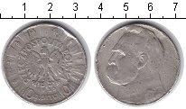 Изображение Монеты Польша 10 злотых 1935 Серебро  Пилсудский