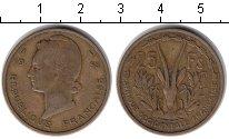 Изображение Монеты Французская Африка 25 франков 1956  VF Антилопа