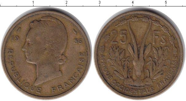 Картинка Монеты Французская Африка 25 франков  1956