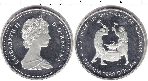 Картинка Монеты Канада 1 доллар Серебро 1988