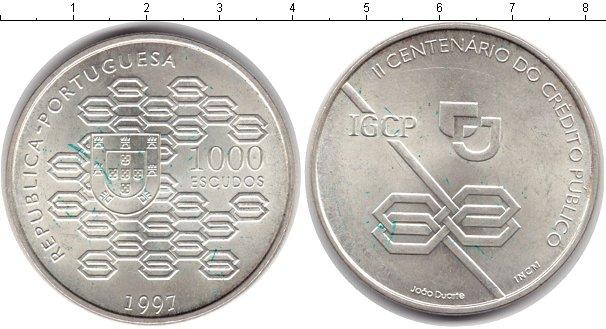 Картинка Монеты Португалия 1.000 эскудо Серебро 1997