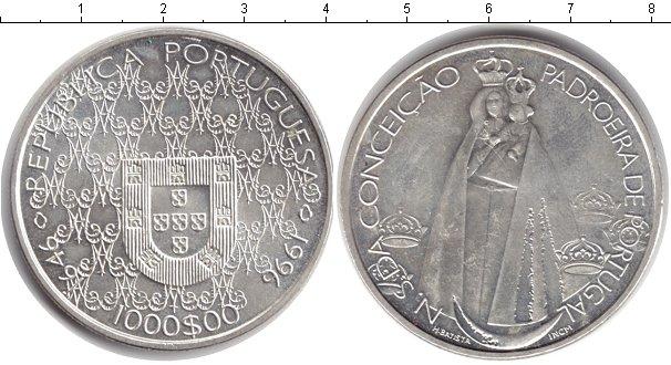 Картинка Монеты Португалия 1.000 эскудо Серебро 1996