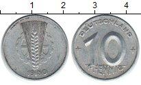 Изображение Монеты ГДР 10 пфеннигов 1950 Алюминий VF Германия. Номинал. В