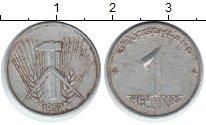 Изображение Монеты ГДР 1 пфенниг 1952 Алюминий VF Германия. Номинал. В
