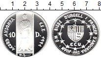 Изображение Монеты Андорра 10 динерс 1993 Серебро Proof- Св. Георгий