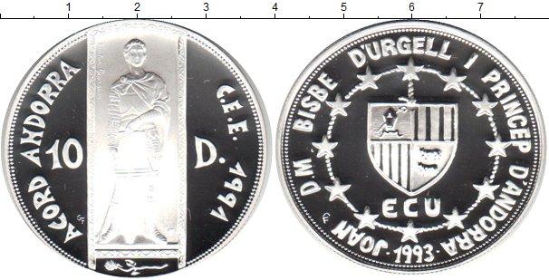 Картинка Монеты Андорра 10 динерс Серебро 1993