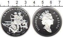 Изображение Монеты Канада 1 доллар 1990 Серебро Proof- Елизавета II. Кельсе