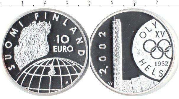 Картинка Монеты Финляндия 10 евро Серебро 2002