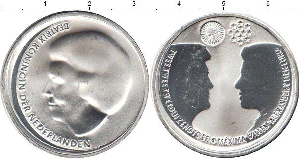 Картинка Монеты Нидерланды 10 евро Серебро 2002