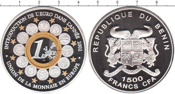 Картинка Монеты Бенин 1.500 франков Серебро 2002