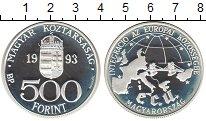 Изображение Монеты Венгрия 500 форинтов 1993 Серебро Proof- Европейский валютный
