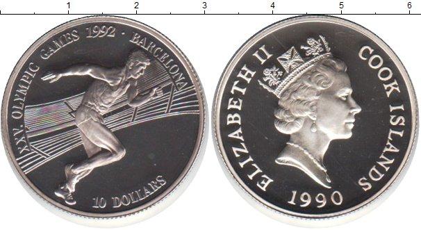 Картинка Монеты Острова Кука 10 долларов Серебро 1990