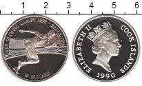 Изображение Монеты Острова Кука 10 долларов 1990 Серебро XF Олимпийские игры в Б
