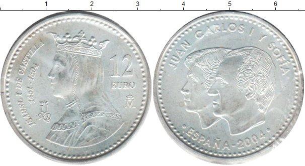 Картинка Монеты Испания 12 евро Серебро 2004