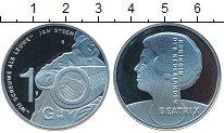 Изображение Монеты Нидерланды 10 гульденов 1996 Серебро Proof- Беатрикс. Ян Штейн