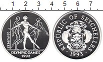 Изображение Монеты Сейшелы 25 рупий 1993 Серебро Proof- XXV Олимпиада Барсел