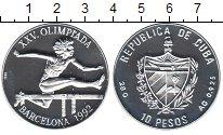 Изображение Монеты Куба 10 песо 1990 Серебро Proof-