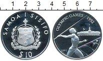 Изображение Монеты Самоа 10 тала 1991 Серебро Proof- XXV Олимпиада Барсел