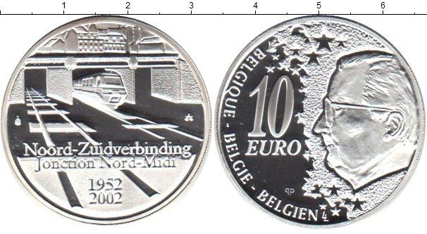 Картинка Монеты Бельгия 10 евро Серебро 2002