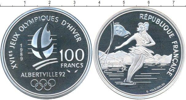 Картинка Монеты Франция 100 франков Серебро 1989