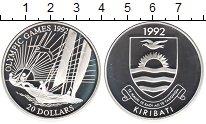 Изображение Монеты Кирибати 20 долларов 1992 Серебро Proof- XXV Олимпиада Барсел