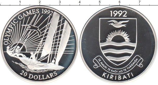 Картинка Монеты Кирибати 20 долларов Серебро 1992