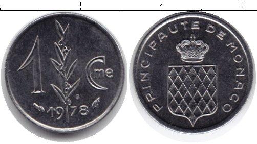 Картинка Монеты Монако 1 сентим Медно-никель 1978