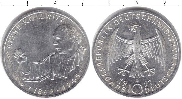 Картинка Монеты ФРГ 10 марок Серебро 1992