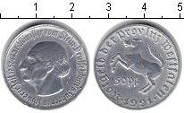 Изображение Монеты Вестфалия 50 пфеннигов 1921 Алюминий XF Минилтер вон Штейн.