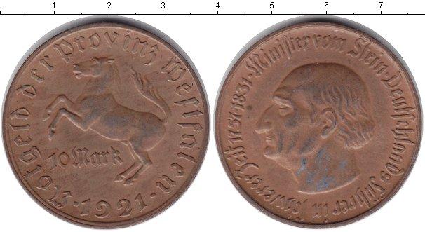 Картинка Монеты Вестфалия 10 марок  1921