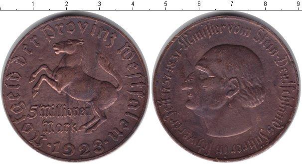 Картинка Монеты Вестфалия 5.000.000 марок  1923