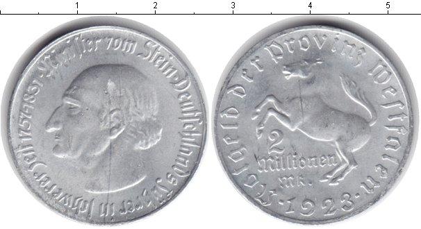 Картинка Монеты Вестфалия 2.000.000 марок Алюминий 1923