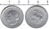 Изображение Монеты Германия Вестфалия 50 пфеннигов 1921 Алюминий XF