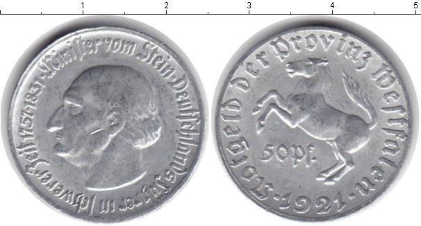 Картинка Монеты Вестфалия 50 пфеннигов Алюминий 1921