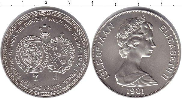 Картинка Монеты Остров Мэн 1 крона  1981