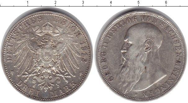Картинка Монеты Саксен-Майнинген 3 марки Серебро 1913