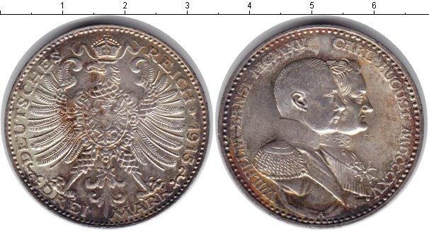 Картинка Монеты Саксен-Веймар-Эйзенах 3 марки Серебро 1915