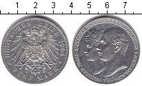 Изображение Монеты Мекленбург-Шверин 5 марок 1904 Серебро UNC- Фридрих Франц и Алек